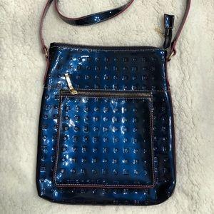 Arcadia Cross Body Italian patent leather purse